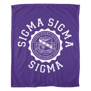 Sigma Sigma Sigma Seal Fleece Blanket