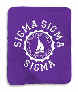 Sigma Sigma Sigma Seal Sherpa Lap Blanket