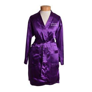 Sigma Sigma Sigma Short Satin Robe