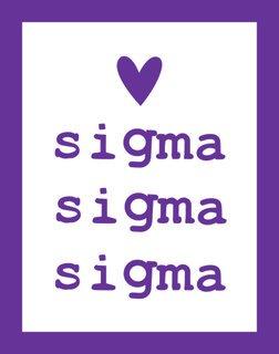 Sigma Sigma Sigma Simple Heart Sticker