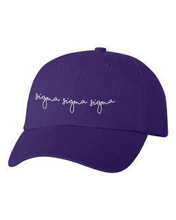Sigma Sigma Sigma Smiling Script Greek Hat