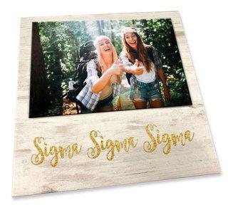 Sigma Sigma Sigma Sorority Golden Block Frame