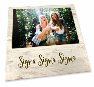 Sigma Sigma Sigma Sorority Script Block Frame