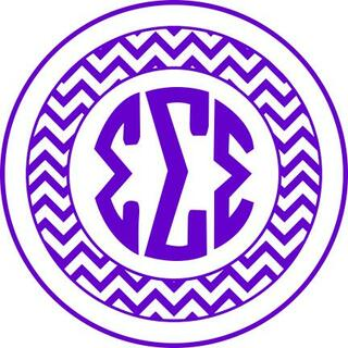 Sigma Sigma Sigma Sorority Monogram Bumper Sticker