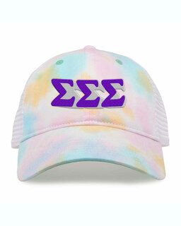 Sigma Sigma Sigma Sorority Sorbet Tie Dyed Twill Hat