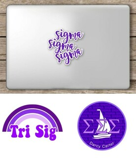 Sigma Sigma Sigma Sorority Sticker Collection - SAVE!