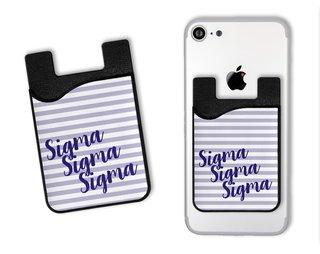 Sigma Sigma Sigma Sorority Stripes Caddy Phone Wallet