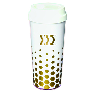 Sigma Sigma Sigma Sparkle Coffee Tumblers