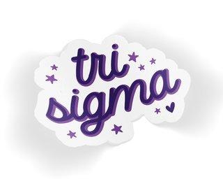 Sigma Sigma Sigma Star Sticker
