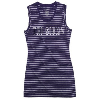 Sigma Sigma Sigma Striped Tee Dress