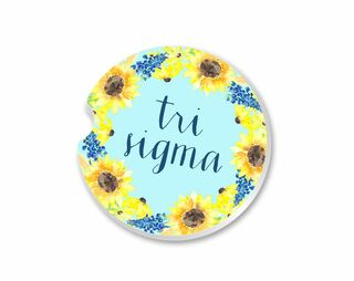 Sigma Sigma Sigma Sunflower Car Coaster