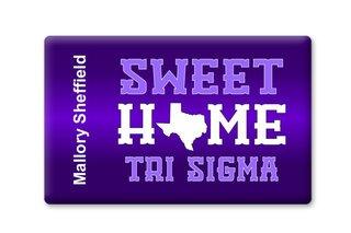 Sigma Sigma Sigma Sweet Home Ceramic Magnet