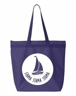 Sigma Sigma Sigma Symbol Circle Mascot Tote Bag