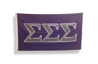 Sigma Sigma Sigma Traditional Flag