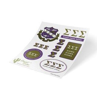 Sigma Sigma Sigma Traditional Sticker Sheet