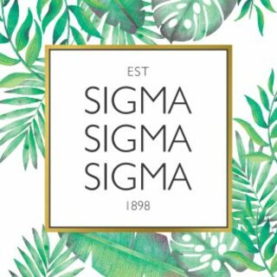 Sigma Sigma Sigma Tropical Sticker Decal