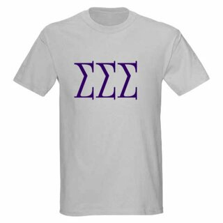 Sigma Sigma Sigma University Greek T-Shirts