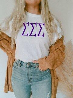 Sigma Sigma Sigma University Greek T-Shirts