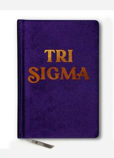 Sigma Sigma Sigma Velvet Notebook