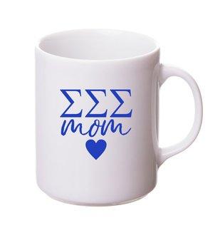 Sigma Sigma Sigma White Personalized Coffee Mug