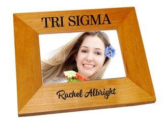 Sigma Sigma Sigma Mascot Wood Picture Frame