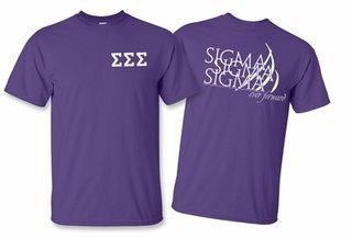 Sigma Sigma Sigma World Famous Greek Crest T-Shirts - $16.95!- MADE FAST!