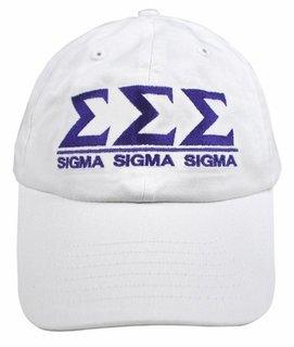 Sigma Sigma Sigma World Famous Line Hat - MADE FAST!