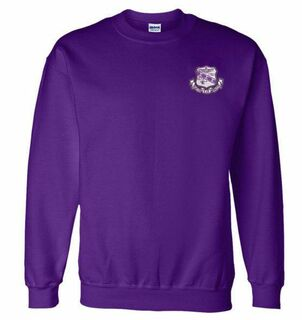 DISCOUNT-Sigma Sigma Sigma World Famous Crest - Shield Crewneck Sweatshirt