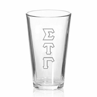 Sigma Tau Gamma Big Letter Mixing Glass