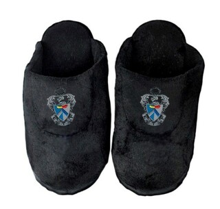 Sigma Tau Gamma Black Solid Slipper