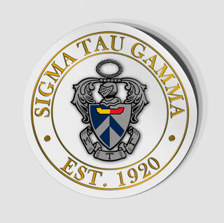 Sigma Tau Gamma Circle Crest - Shield Decal