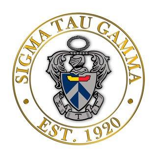 Sigma Tau Gamma Circle Crest - Shield Decal