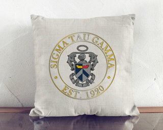 Sigma Tau Gamma Crest Linen Pillow