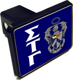 Sigma Tau Gamma Crest Trailer Hitch Covers
