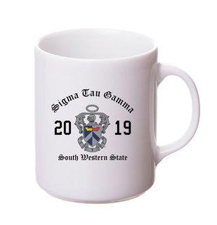 Sigma Tau Gamma Crest & Year Ceramic Mug