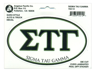 Sigma Tau Gamma Euro Decal Oval Sticker