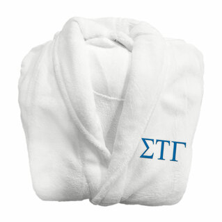 Sigma Tau Gamma Fraternity Lettered Bathrobe