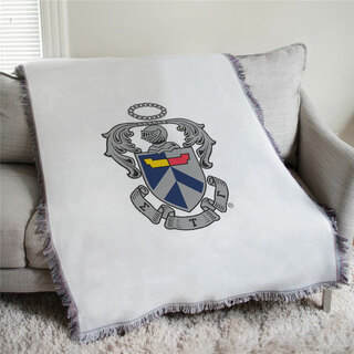 Sigma Tau Gamma Full Color Crest Afghan Blanket Throw