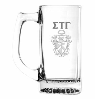 Sigma Tau Gamma Glass Engraved 25 Ounce Mug