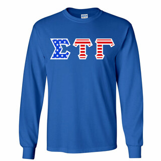 Sigma Tau Gamma Greek Letter American Flag long sleeve tee