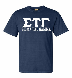 Sigma Tau Gamma Greek Custom Comfort Colors Heavyweight T-Shirt