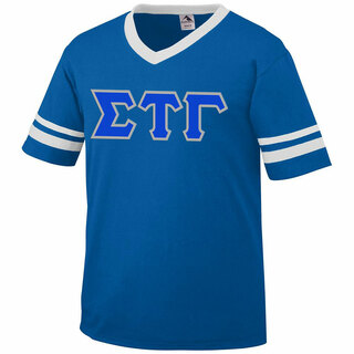 DISCOUNT-Sigma Tau Gamma Jersey With Greek Applique Letters