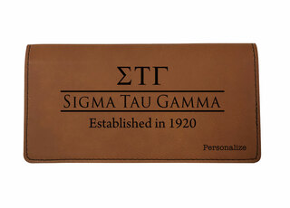Sigma Tau Gamma Leatherette Checkbook Cover