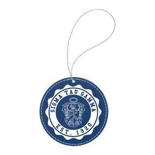 Sigma Tau Gamma Leatherette Crest Holiday Ornament