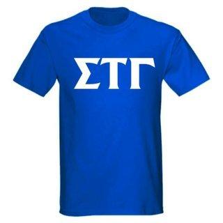 Sigma Tau Gamma letter tee