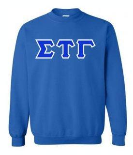 Sigma Tau Gamma Sewn Lettered Crewneck Sweatshirt