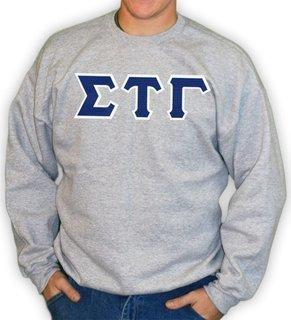 Sigma Tau Gamma Lettered Crewneck Sweatshirt
