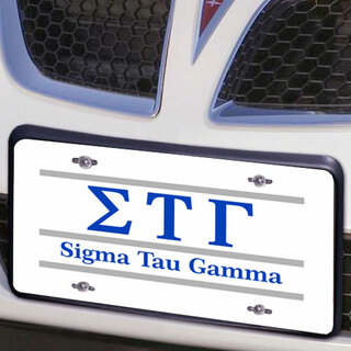 Sigma Tau Gamma Lettered Lines License Cover