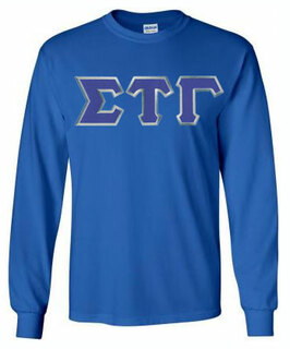 Sigma Tau Gamma Lettered Long Sleeve Tee- MADE FAST!