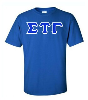 Sigma Tau Gamma Sewn Lettered T-Shirt